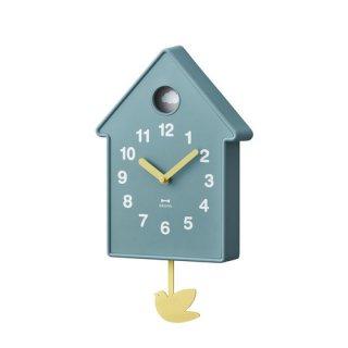 【BRUNO】ブルーノ 掛け時計 振り子時計 バードモビールクロック (ブルー)・BCW034-BL
