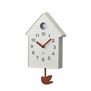 【BRUNO】ブルーノ 掛け時計 振り子時計 バードモビールクロック (アイボリー)・BCW034-IV