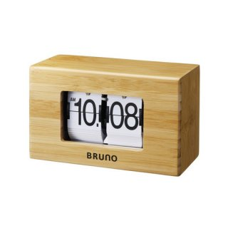 【BRUNO】ブルーノ 置き時計  ナチュラルフリップクロック (ナチュラルウッド)・BCA012-NW