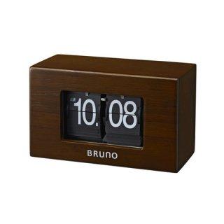 【BRUNO】ブルーノ 置き時計  ナチュラルフリップクロック (ダークウッドー)・BCA012-DW