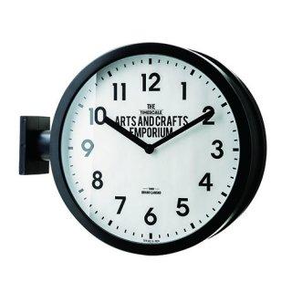 【インターフォルム】置き掛け両用時計 両面時計 Robeston [ ロベストン ] (ブラック)・CL-2138