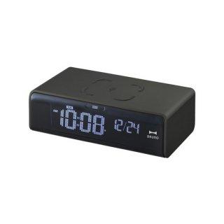【 BRUNO】高機能アラームクロック LCD クロック with ワイヤレス充電 ・BCA020-BK(ブラック)