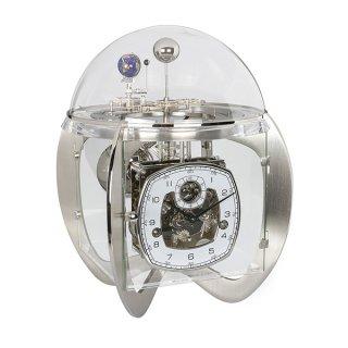 【Hermle】置き時計 Tellurium (シルバー)・23046-000352