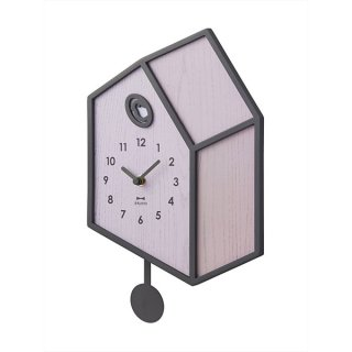 【BRUNO】だまし絵のようなイラストがユニークな イラスト振り子クロック BCW041-PK(ピンク)