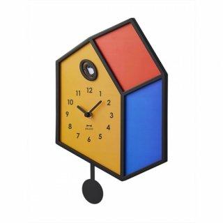 【BRUNO】だまし絵のようなイラストがユニークな イラスト振り子クロック BCW041-CF(カラフル)
