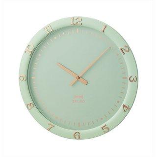 【BRUNO】ブルーノ 掛け時計 アクセサリーのような箔押しデザイン パステルウォールクロック BCW040-BGR (ブルーグリーン)