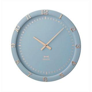 【BRUNO】ブルーノ 掛け時計 アクセサリーのような箔押しデザイン パステルウォールクロック BCW040-BL(ブルー)