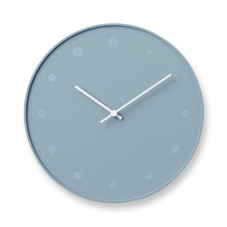 【Lemnos】DESIGN OBJECTS 掛け時計 molecule / ブルー (NL17-02 BL)