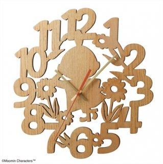 【BRUNO】ブルーノ シンプルと遊び心が調和したムーミンキャラクターの掛け時計 ムーミンシルエットウォールクロック BCW038-MY (リトルミイ)