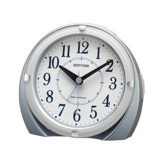 【RHYTHM】目覚まし時計スタンダードネムリーナマロンF(青メタリック色(白))・4RL439SR04
