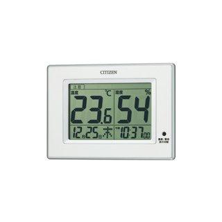 【CITIZEN】温湿度計高精度センサー搭載型ライフナビD200A(白)箱仕様(茶ダン)・8RD200-A03