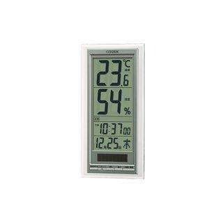 【CITIZEN】温湿度計高精度センサー搭載型ライフナビD204A(シルバーメタリック色)箱仕様(茶ダン)・8RD204-A19