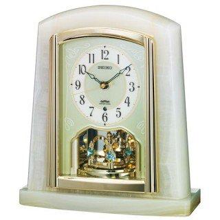 【SEIKO】置き時計 スタンダード(オニキス枠)・BY223M