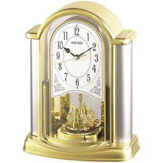 【SEIKO】置き時計 スタンダード(金色光沢)・BY418G
