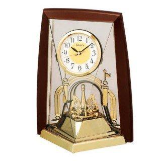 【SEIKO】置き時計 スタンダード(茶メタリック塗装)・BY426B
