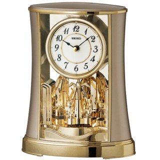 【SEIKO】置き時計 スタンダード(薄金色パール塗装)・BY428G