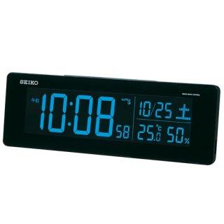 【SEIKO】シリーズC3 目覚まし 電波 交流式デジタル時計 掛け置き兼用 USBポート付き(ブラック)・DL205K