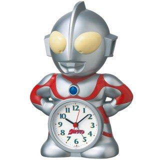 【キャラクタークロック】目覚まし時計 ウルトラマン(プラスチック枠)・JF336A