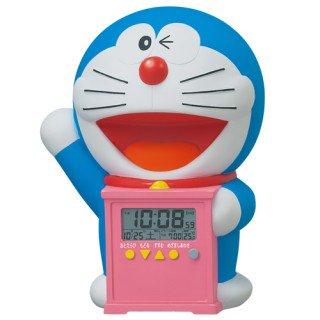 【キャラクタークロック】目覚まし時計 ドラえもん(プラスチック枠)・JF374A