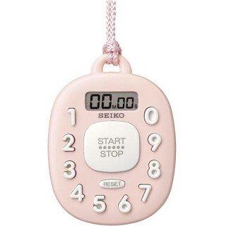 【SEIKO】デジタル時計 タイマー(ピンク)・MT716P