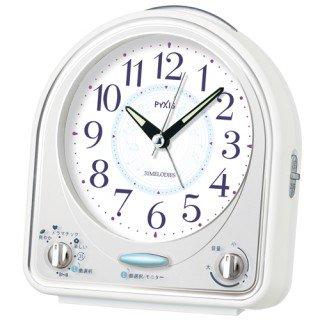 【PYXIS】目覚まし時計 ピクシス(白)・NR435W