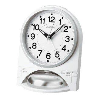 【PYXIS】目覚まし時計 ライデン(白パール塗装)・NR436W