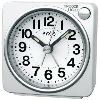【PYXIS】目覚まし時計 ピクシス(白パール塗装)・NR437W