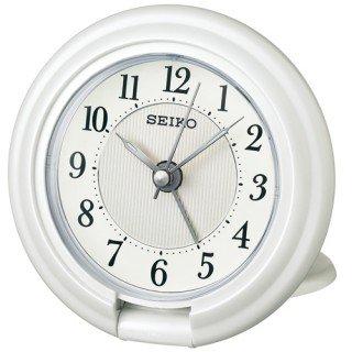 【SEIKO】目覚まし時計 トラベラ(白パール塗装)・QQ637W