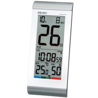 【SEIKO】デジタル時計 大きなカレンダー表示タイプ(銀色メタリック塗装)・SQ431S