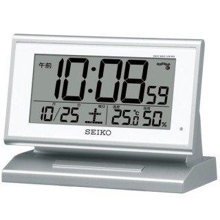 【SEIKO】デジタル時計 夜でも見える(銀色メタリック塗装)・SQ768S
