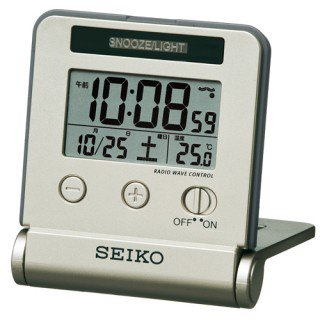【SEIKO】デジタル時計 トラベラ(薄金色パール塗装)・SQ772G