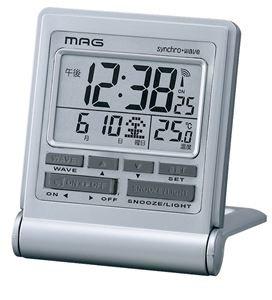 【MAG】電波時計 デジタル時計 ハヤブサ(シルバー)・T-638SM