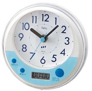 【Felio】置き時計 バスクロック バブルタイマー(ホワイト)・FEA144WH