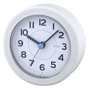 【Felio】置き時計 バスクロック バブルフィズ(ホワイト)・FEA156WH