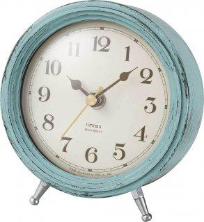 【rimlex】置き時計 インテリアクロック エアリアルレトロミニ(グリーン)・T-688GR