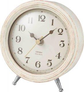 【rimlex】置き時計 インテリアクロック エアリアルレトロミニ(ホワイト)・T-688WH