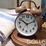 【インターフォルム】目覚まし時計 DOLLIS [ドリス](木調塗装)・CL-8343