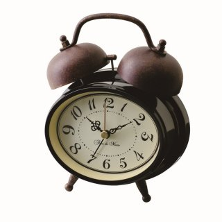 【インターフォルム】目覚まし時計 TROTS [トロッツ](ブラック)・CL-6871BK