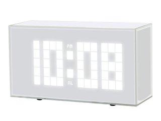 【誠時】目覚まし時計LEDクロックSaleve(サレーブ)(ホワイト)・LED-108WH
