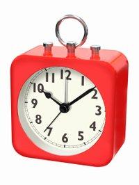 【誠時】目覚まし時計アラームクロックコリル(レッド)・LW-004RE