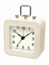 【誠時】目覚まし時計アラームクロックトット(ホワイト)・LW-005WH