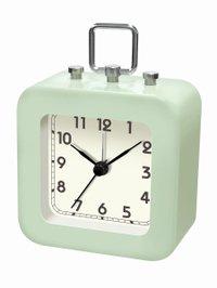 【誠時】目覚まし時計アラームクロックトット(ライトグリーン)・LW-005LG