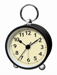 【誠時】目覚まし時計アナログクロックArcoS(アルコS)(ブラック)・LW-002BK