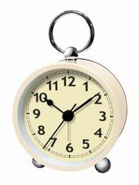 【誠時】目覚まし時計アナログクロックArcoS(アルコS)(ホワイト)・LW-002WH