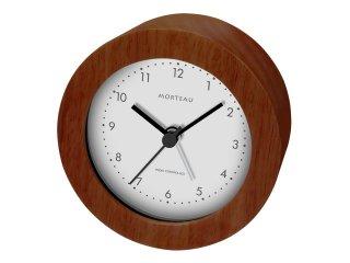 【誠時】目覚まし時計木製電波クロックMorteau(モルトー)(ブラウン)・RW-018BR
