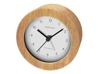 【誠時】目覚まし時計木製電波クロックMorteau(モルトー)(ナチュラル)・RW-018NA
