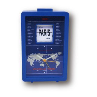 【CRAFTY】置き時計 クリップクロック ワールドフリップクロック(ブルー  )・CRF-084