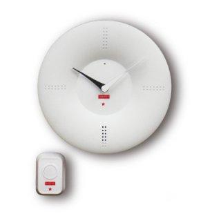 【CRAFTY】置き時計 クリップクロック ピンポンクロック(ホワイト)・CRF-086