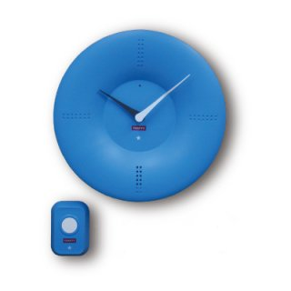 【CRAFTY】置き時計 クリップクロック ピンポンクロック(スカイブルー)・CRF-088
