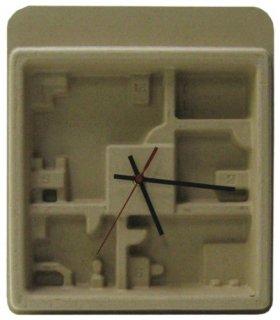 【HOUSE USE PRODUCTS】置き時計 ペーパーウォールクロック フループ(ブラウン)・HFT-161